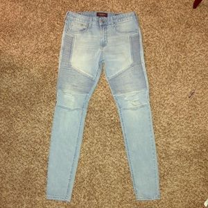 30x30 Stacked skinny Pacsun jeans.